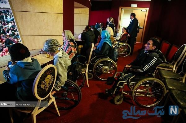 زجر کشیدن معلولان در مراسم روز جهانی معلولان !
