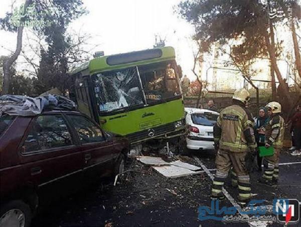 تصادف اتوبوس شهری