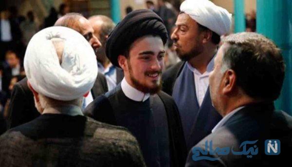 تصویری از پسر سیدحسن خمینی در کنار امام جمعه تهران