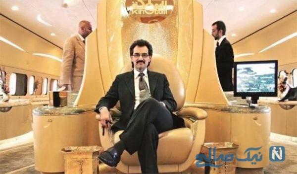 شاهزاده میلیاردر سعودی با نوههایش مشغول خوشگذرانی
