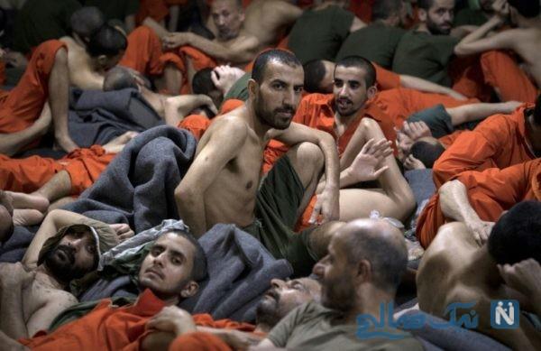 تصاویر دیده نشده از درون زندان داعشی ها در سوریه