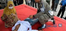غش کردن مرد جوانی پس از شلاق خوردن در انظار عمومی