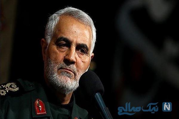 حضور سردار پر افتخار ایرانی در محل دفن صدام حسین