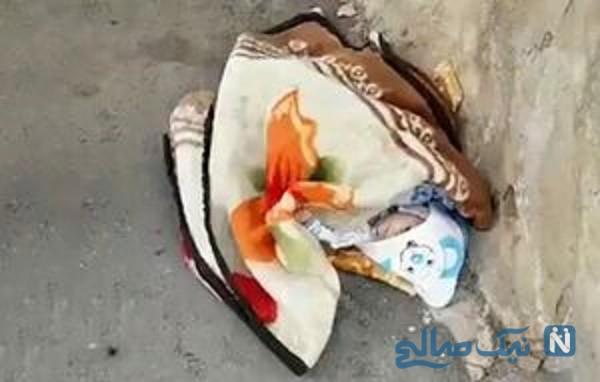 نوزاد رها شده در خیابان