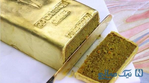 آموزش پخت کیک با ورق طلا در شبکه پنج جنجال ساز شد!