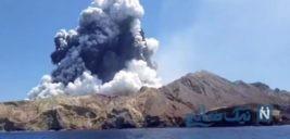 عروس و داماد آمریکایی در آتشفشان نیوزلند گرفتار شدند