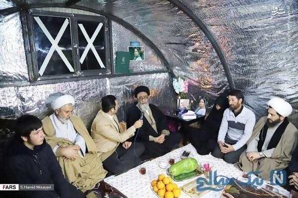 تصاویری از امام جمعه شهر تبریز در شب یلدا