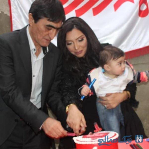 ناصر محمدخانی و همسرش