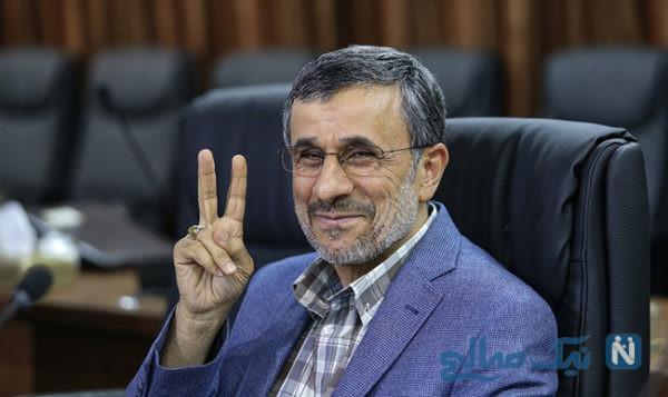در صف اول نمازجمعه امروز تهران احمدی نژاد کنار چه کسی نشست؟