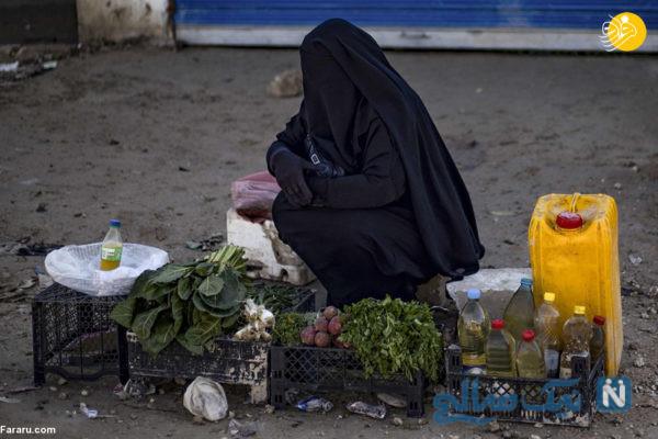 سبزی فروشی زن داعشی
