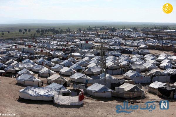 چادرهای آوارگان داعش