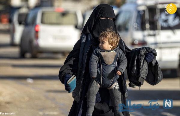 کودکان داعشی در آغوش مادر
