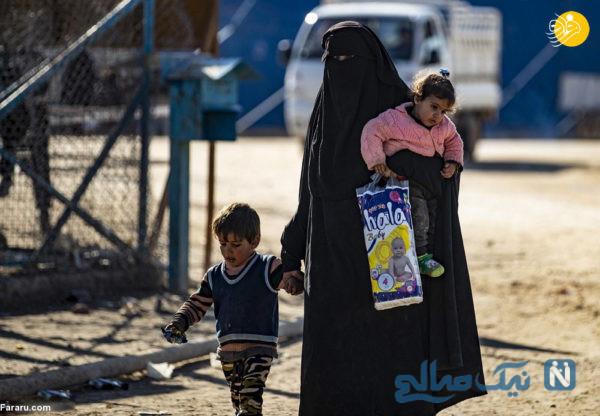 بیوه های داعشی در اردوگاه الهول سوریه