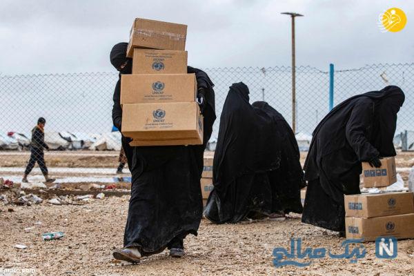 کمک های یونیسف به بیوه های داعش