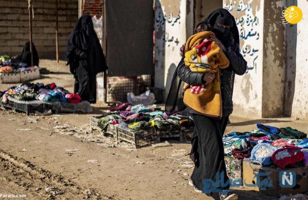 بیوه داعشی و فرزندنش
