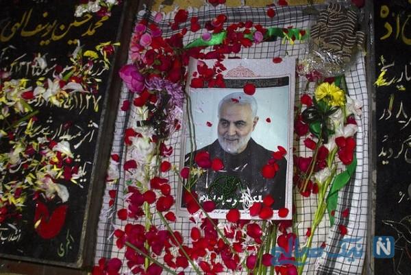 توییت انتقادی وزیر ارشاد و فرهنگ از سنگ مزار شهید سلیمانی
