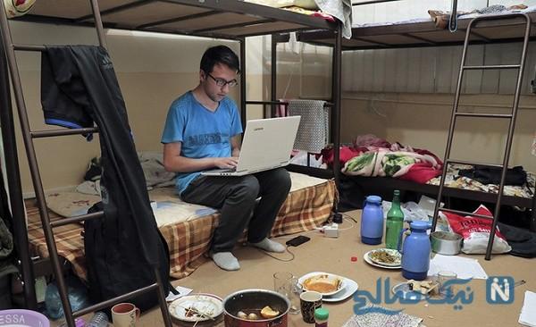 وضعیت خوابگاه های دانشجویی در شب امتحانات