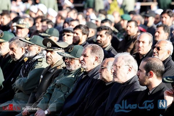 حضور شخصیت های مهم در تشییع سپهبد سردار سلیمانی در کرمان