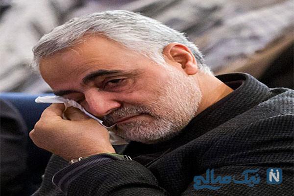 اشکهای شهید سردار سلیمانی حین قسم خوردن به نام شهدا