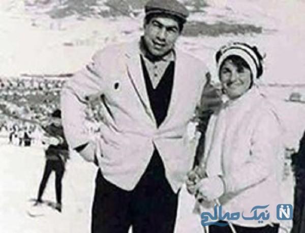 غلامرضا تختی و همسرش