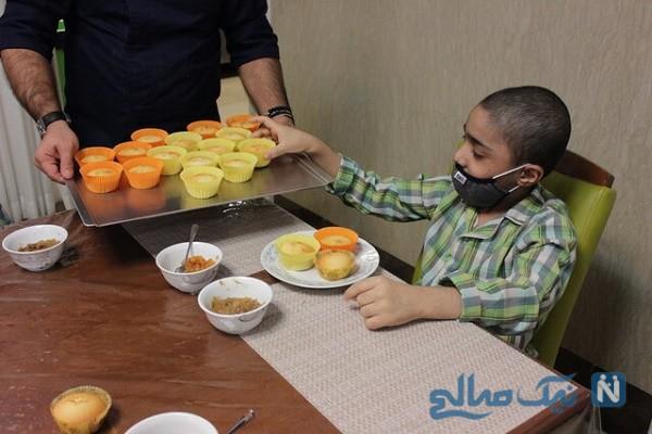 پخت کیک سلامتی کودکان سرطانی در اقامتگاه ستارخان محک