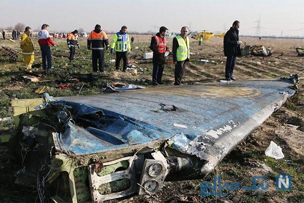 فیلمی جدید از لحظه سقوط هواپیمای اوکراینی در اطراف تهران