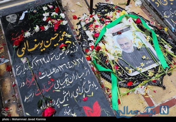 سنگ مزار حاج قاسم | نخستین تصاویر از سنگ مزار شهید سردار سلیمانی