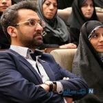 وزیر ارتباطات و همسرش در مراسم تشییع سردار سلیمانی