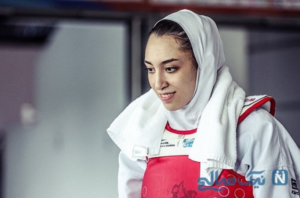 حضور بی حجاب کیمیا علیزاده در المپیک با پرچم آلمان!