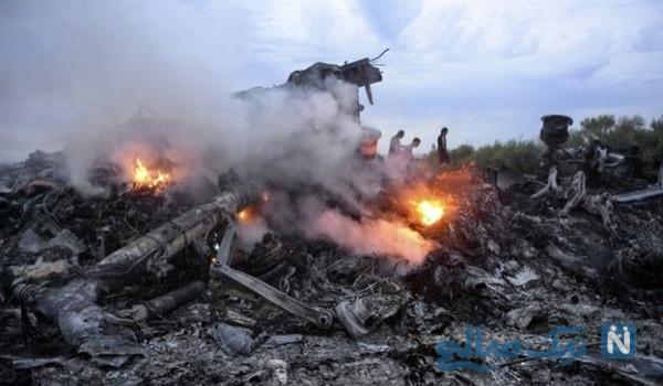 لحظه اصابت موشک به هواپیما