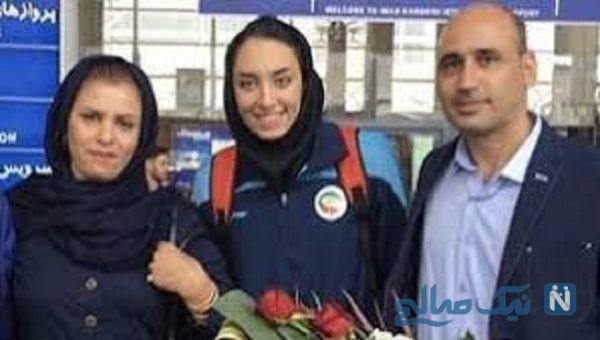 کیمیا علیزاده و پدر و مادرش