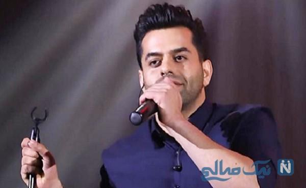 کنسرت جدید رضا بهرام   خواننده جوان دست مادرش را بوسید