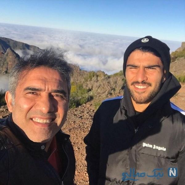 احمد عابدزاده و پسرش