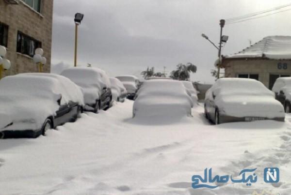 جزئیات گرفتاری خودروها و مسافران در برف شهر رشت
