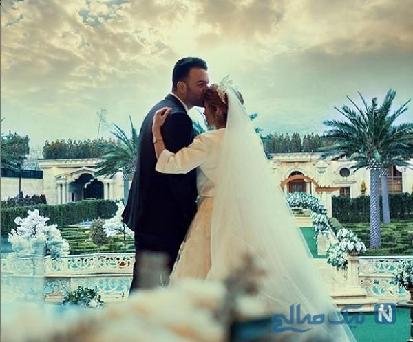 حنیف در مراسم ازدواجش با ملیکا صفایی