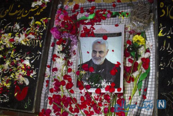 آغاز زندگی عروس و داماد کرمانی در جوار مزار شهید سلیمانی