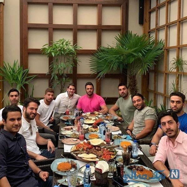 مهمانی محمدرضا گلزار