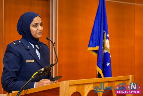 اولین زن واعظ مسلمان در نیروی هوایی آمریکا