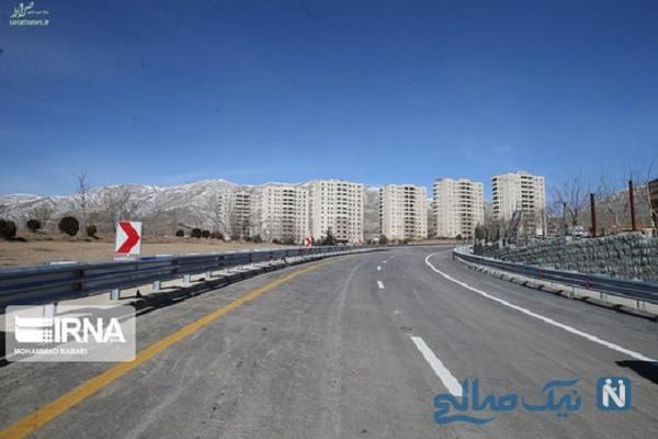 نخستن تصاویر از افتتاح آزادراه تهران شمال