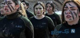 دختران پیشمرگه کرد ضد داعش که مار می جوند