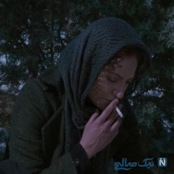 سیگار کشیدن مهناز افشار