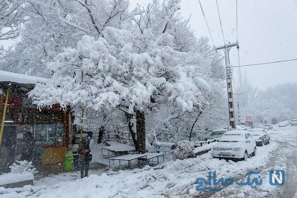 بارش برف بی سابقه و سنگین در لاهیجان و خلخال