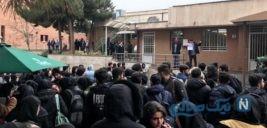 تجمع اعتراضی دانشجویان بهشتی در پی شیوع کرونا ویروس
