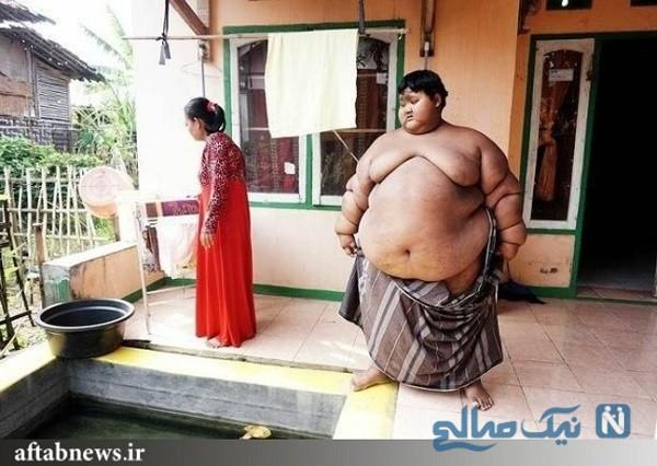کاهش وزن ۱۱۰ کیلوگرمی چاق ترین پسر جهان ببینید