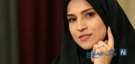 زهرا چخماقی خبرنگار ۲۰:۳۰ درکنار مادر گوینده اش
