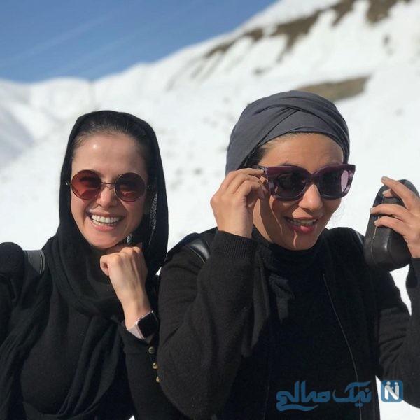 الناز و لیندا در برف