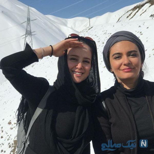 کوه پیمایی در برف با الناز حبیبی