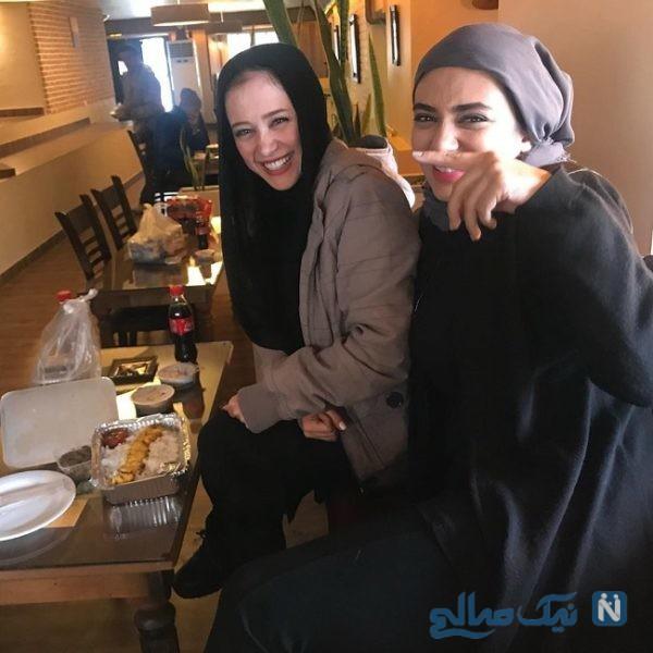 لیندا کیانی و الناز حبیبی بازیگر سریال دوپینگ