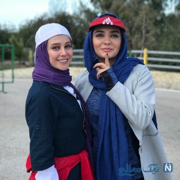 عکس های دونفره الناز حبیبی و لیندا کیانی