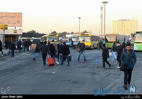 تردد در تهران در هفته پیک کرونا ، ببینید